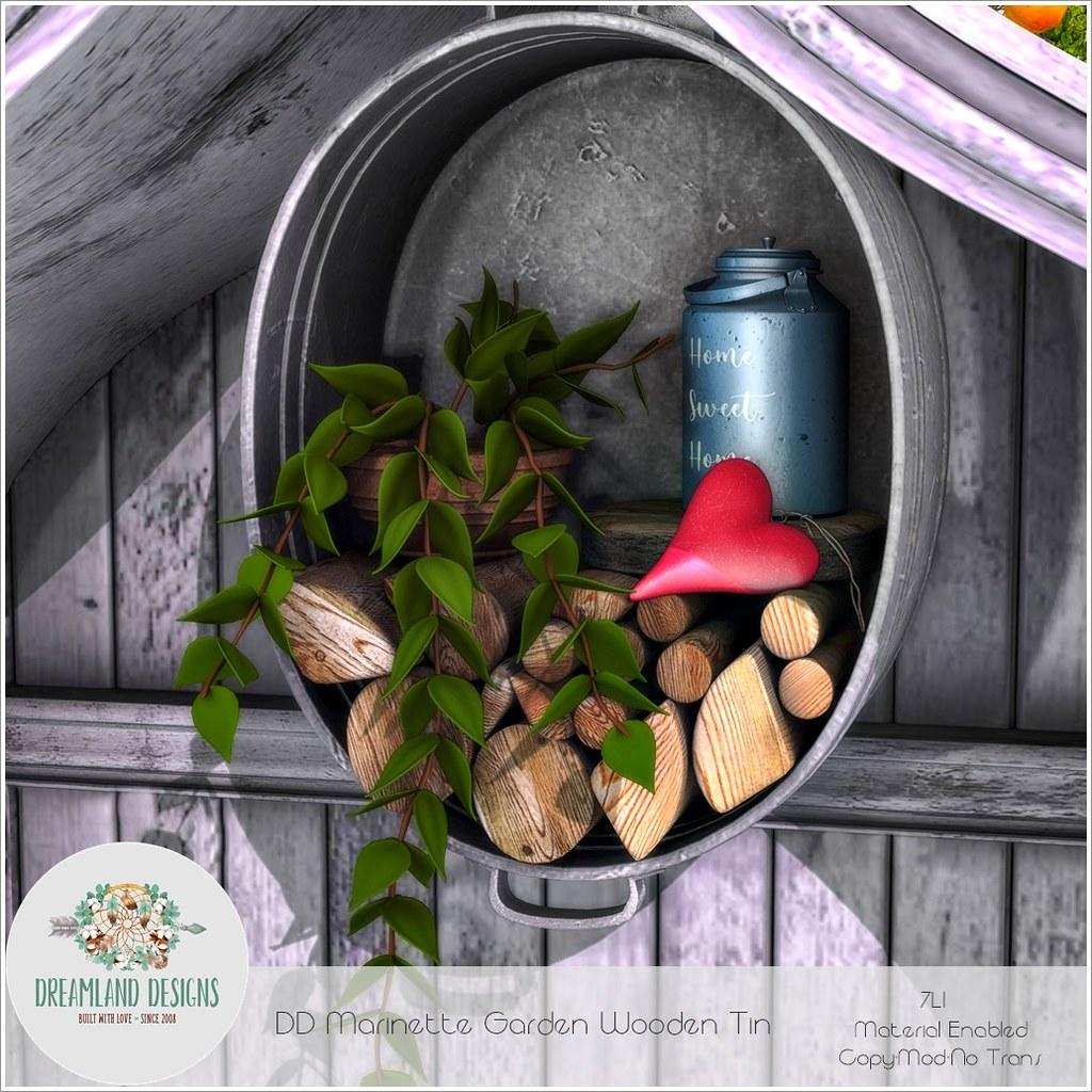 DD Marinette Garden Wooden Tin-AD