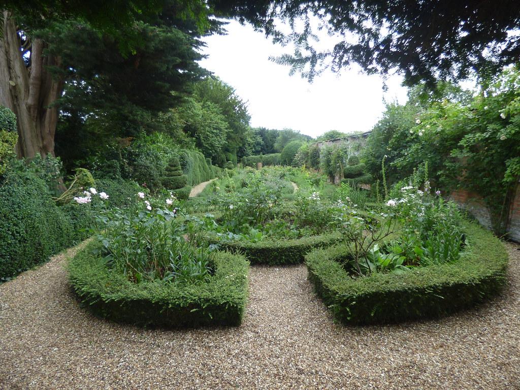 Top Rose Garden / Botticelli Garden at Kelmarsh Hall & Gardens