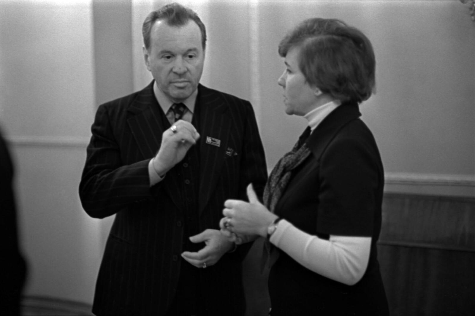 1979. Седьмой съезд композиторов в Колонном зале Дома Союзов, Евгений Светланов и Римма Казакова