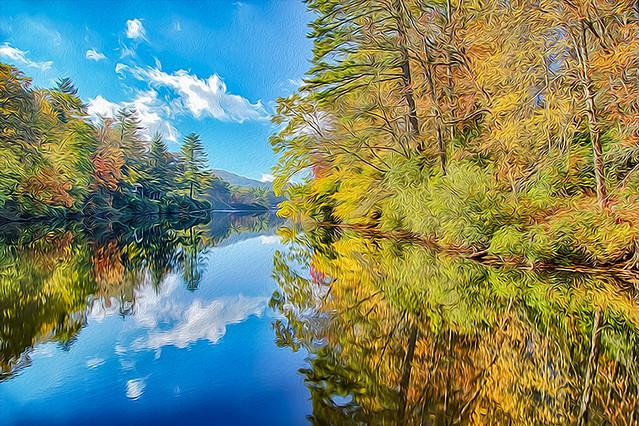 Mirror Lake 10/20/2014 Oil Paint Rendered
