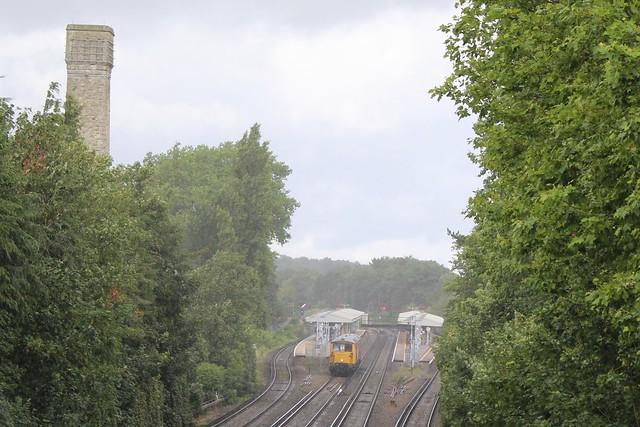 73128 'O.V.S. Bulleid CBE' (leading) and 73107 'Tracy', Shortlands