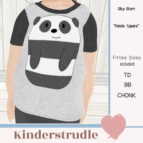 KS AD Sky Shirt Panda Square