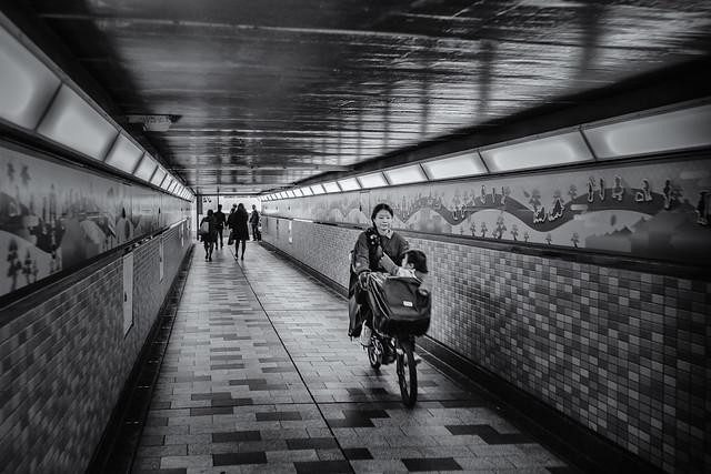 Shinjuku railway underpass
