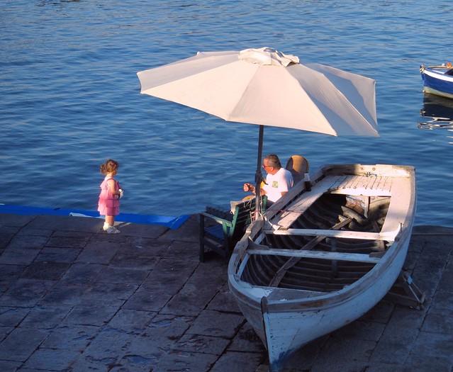Naples /  Last sunbeams to Santa Lucia