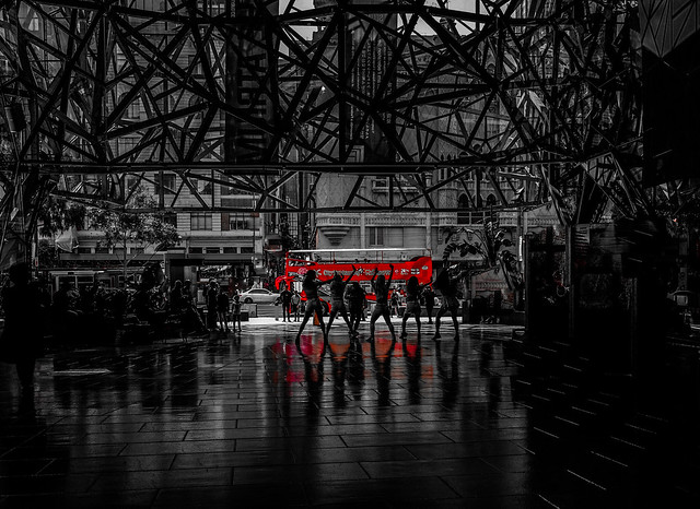 Red dance reflection