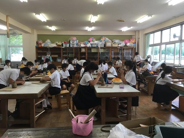 2年ぶりのサマースクール 陶芸教室