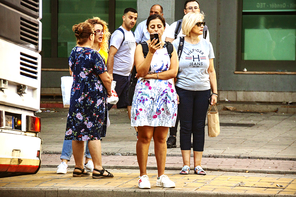 Maskless people on 7-30-21--Tirana 6