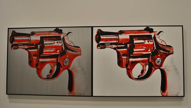 Gun 1981, Andy Warhol Exhibits, Art Gallery of Ontario, AGO, 317 Dundas Street West, Toronto, ON