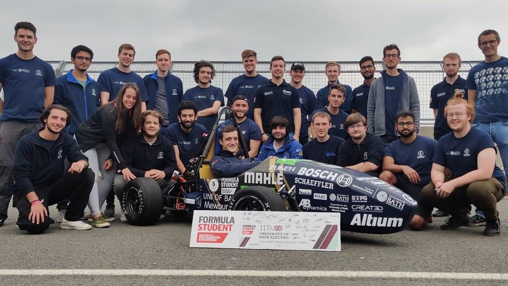 Team Bath Racing Electric with their Formula Student car