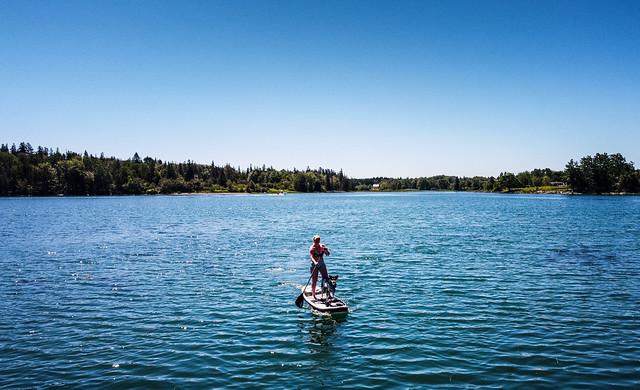 Kat & Thursday on the water... | Tenants Harbor Maine