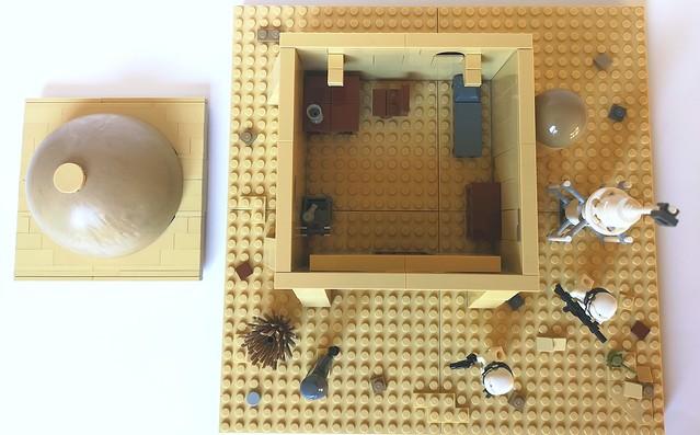 Inside a modest Tatooine house