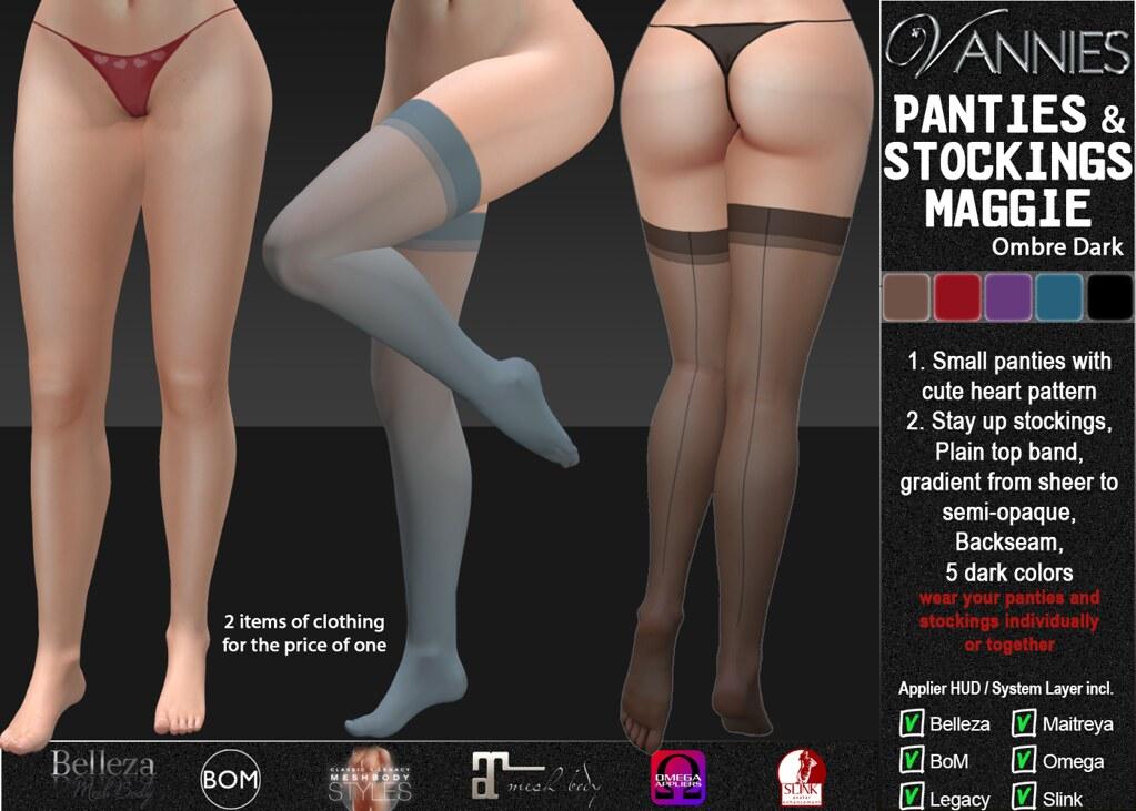 VANNIES Panties & Stockings Maggie Ombre dark
