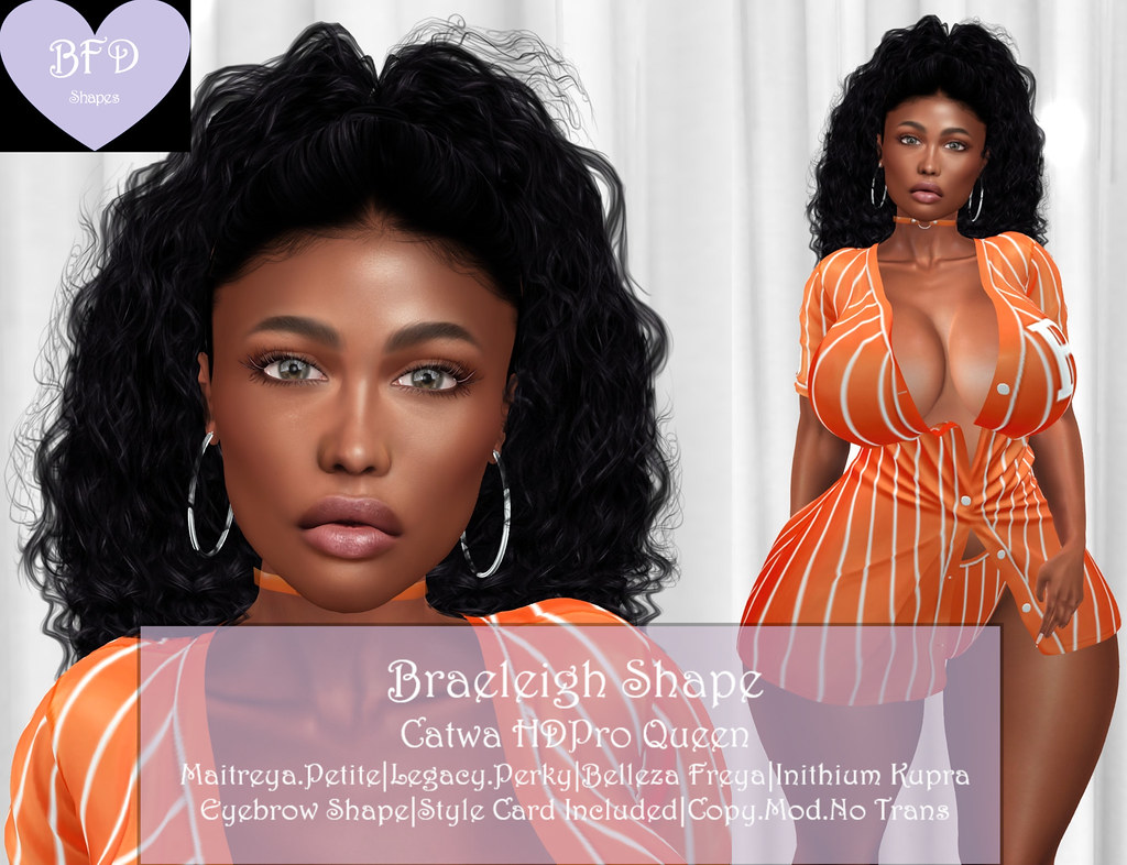 {BFD} Shapes – Braeleigh Shape – Catwa HDPro Queen ♥♥ New Release!! ♥♥