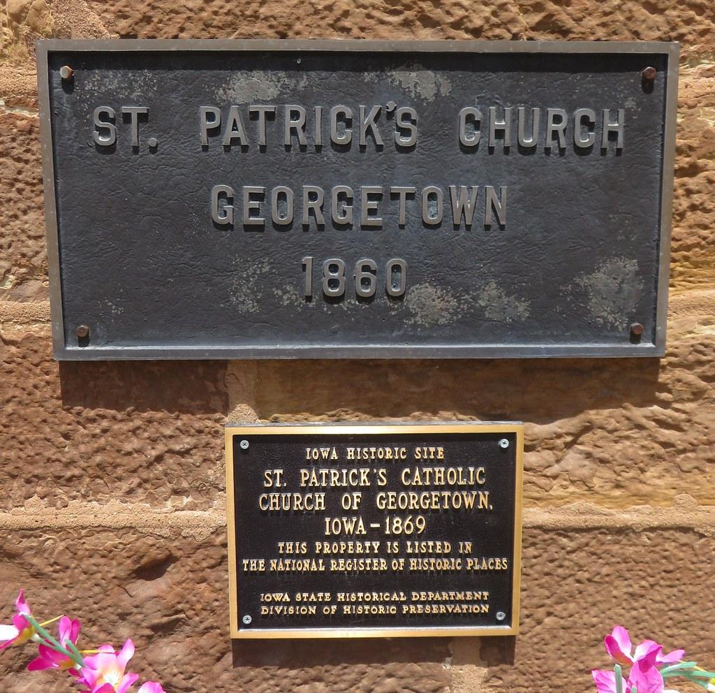 Saint Patrick's Roman Catholic Church National Register Plaques (Georgetown, Iowa)