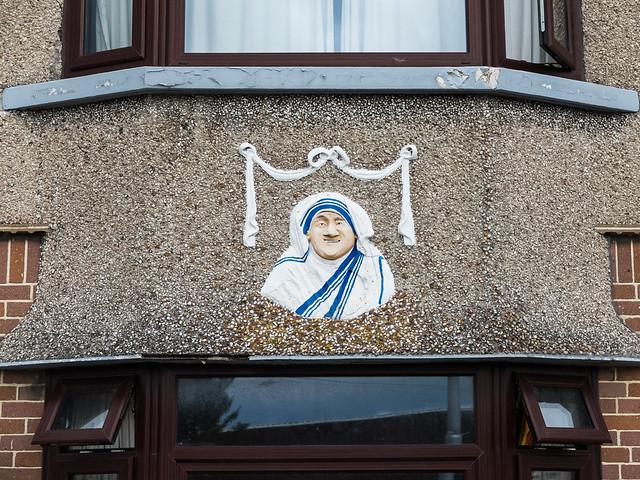 Bertie Ahern disguised as Mother Teresa of Costcutter