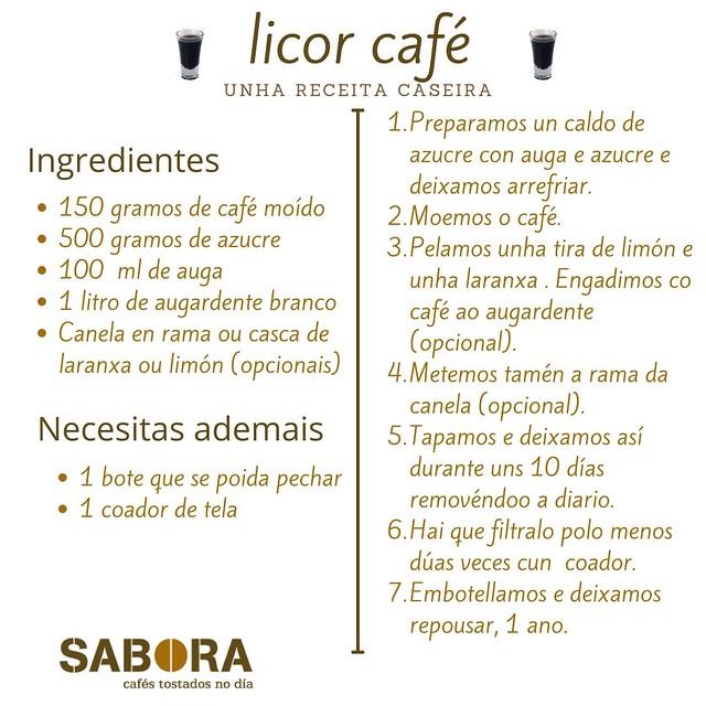 Licor café caseiro