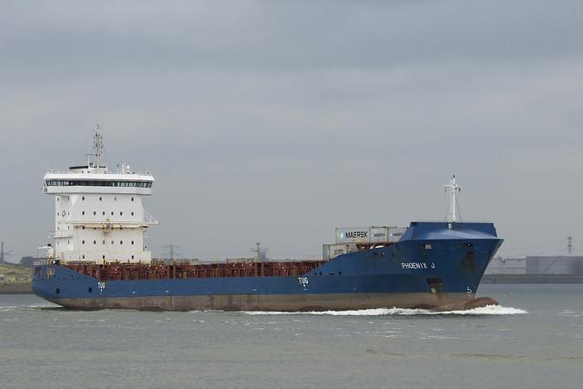 PHOENIX J  Container Ship - Nieuwe Waterweg - Hoek van Holland