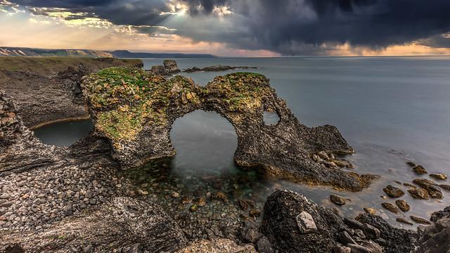 Gatklettur stone arch at Arnarstapi (Iceland)