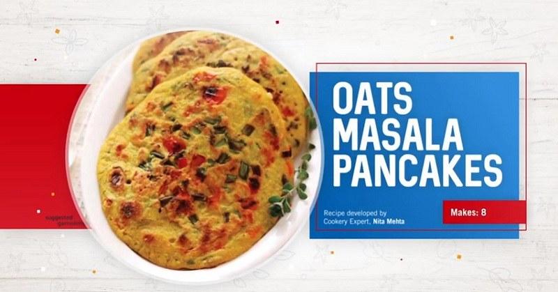 Oats Masala Pancakes Recipe   Quaker Oats