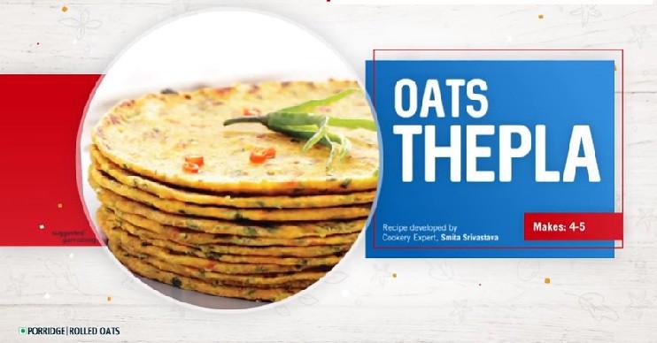 Healthy Oats Thepla Recipe   Quaker Oats