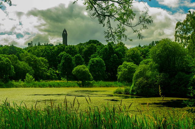Airthrey Loch and Wallace Monument