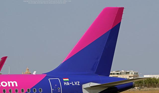 HA-LVZ LMML 30-07-2021 Wizz Air Airbus A321-271NX CN 10417