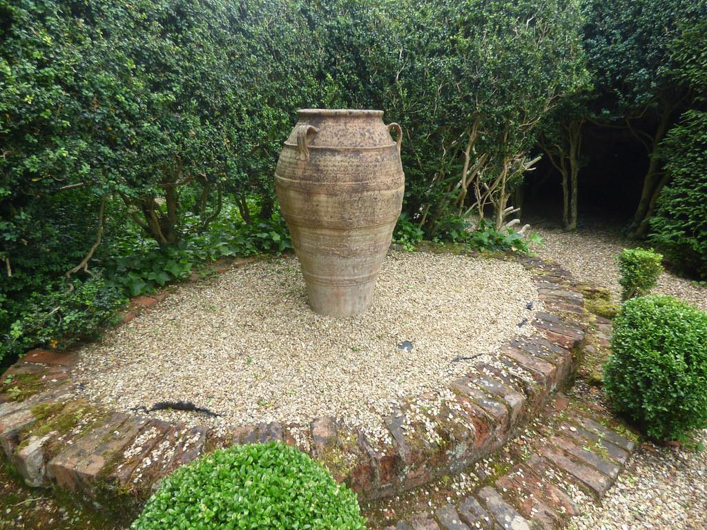 Top Rose Garden / Botticelli Garden at Kelmarsh Hall & Gardens - Urn