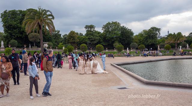 Paris, mariés jardin du Luxembourg