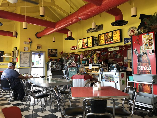 Counter and tables, Great Lakes Cafe, Mississippi Street, Gary, Indiana