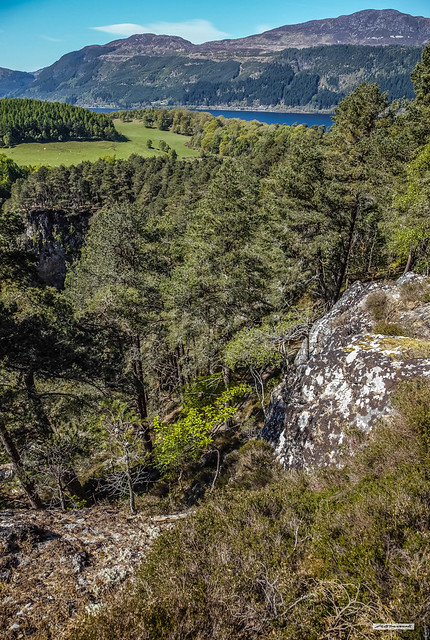 Foyers Gorge above Loch Ness and the Great Glen, Inverness-shire, Scotland.