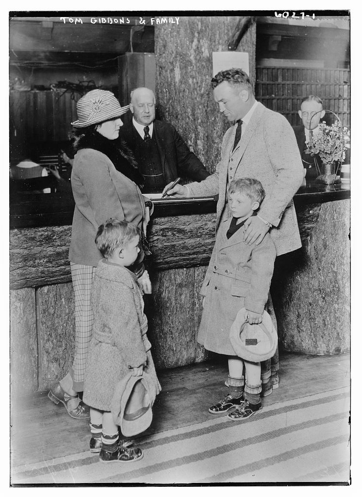 Tom Gibbons and family (LOC)