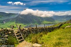 Tryfan Mountain And Llyn Ogwen Snowdonia