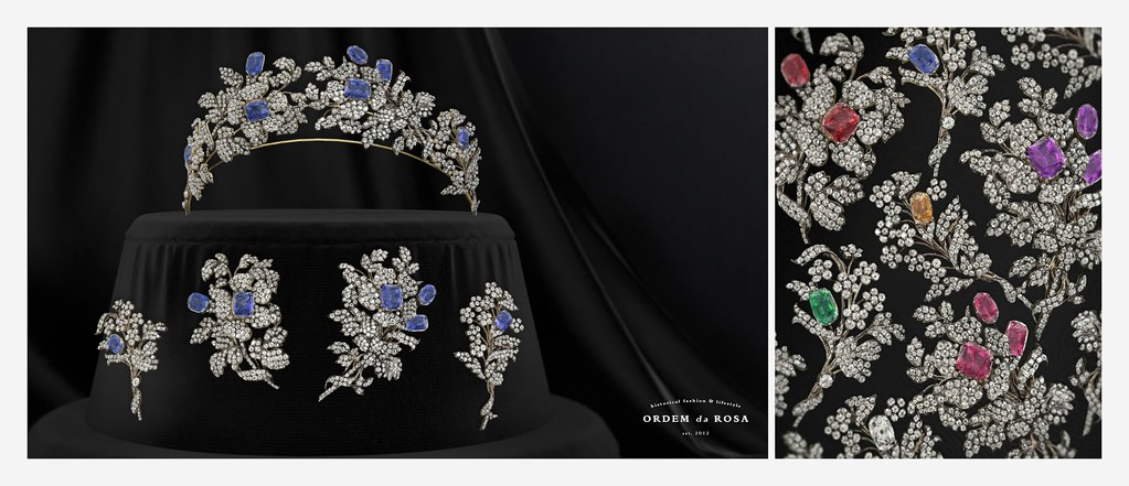 Ordem da Rosa – Diamond & Gemstones Tiara and Brooches