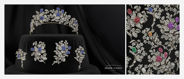 Ordem da Rosa - Diamond & Gemstones Tiara and Brooches