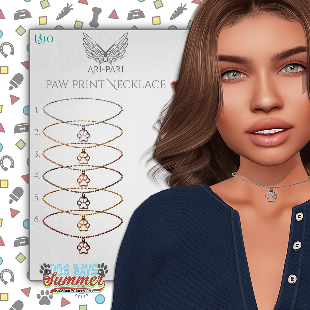 [Ari-Pari] Paw Print Necklaces Key