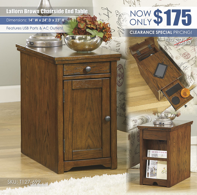Laflorn Brown Chairside End Table_T127-699