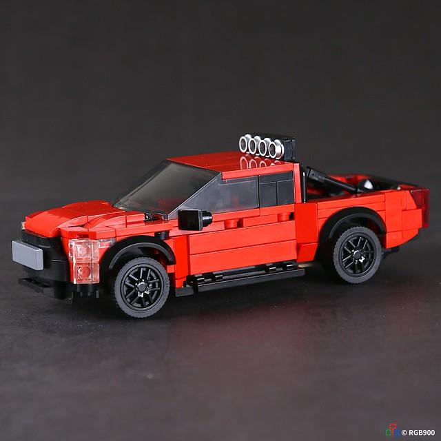 7 wide Brick MOC Ford F150