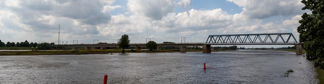 Panorama Spoorbrug Deventer