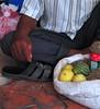 brindilles, sandale et melons