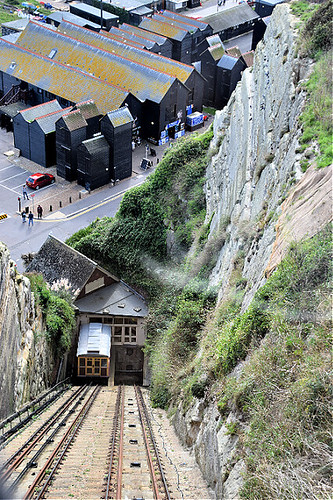 hastings oldtown thestade pitchedroof sussex england europe europa southcoast fishingnethut funicular ©peterdenton nikond5300