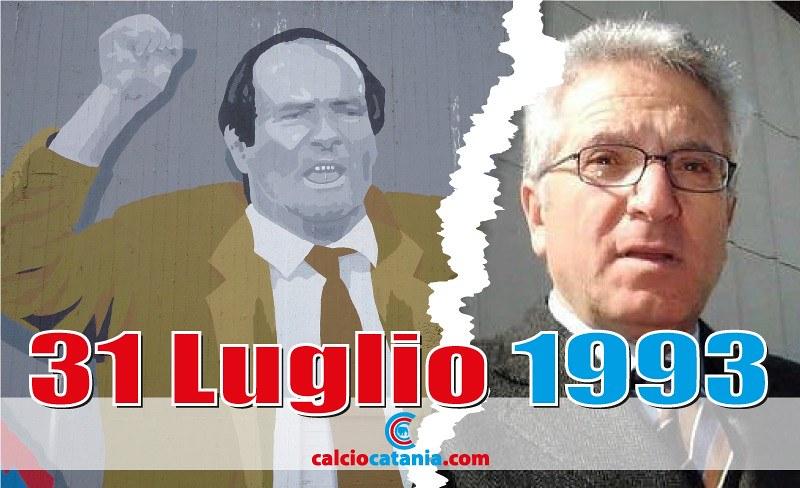 Angelo Massimino troneggia su Antonio Matarrese (Collage fotografico: Bruno Marchese)