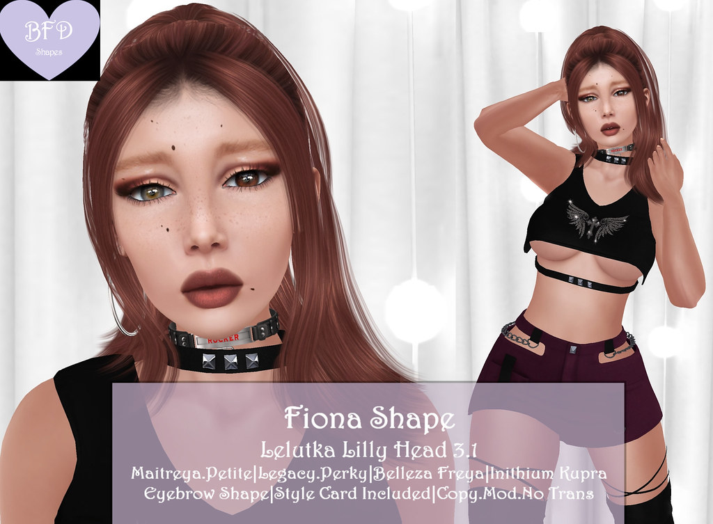 {BFD} Shapes – Fiona Shape – Lelutka Lilly Head 3.1 ♥♥ New Release Sale for Fantastic Monday!! ♥♥