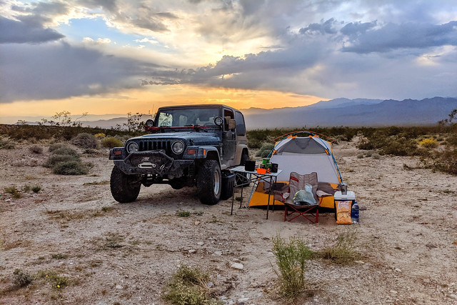 Mojave Trails National Mounment, Border of the Old Woman Mountains Wilderness, Camp
