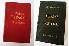 Guias Baedeker, 1900 y Joanne-Hachette, 1906 - portadas. Archivo Jose Luis Pajares.