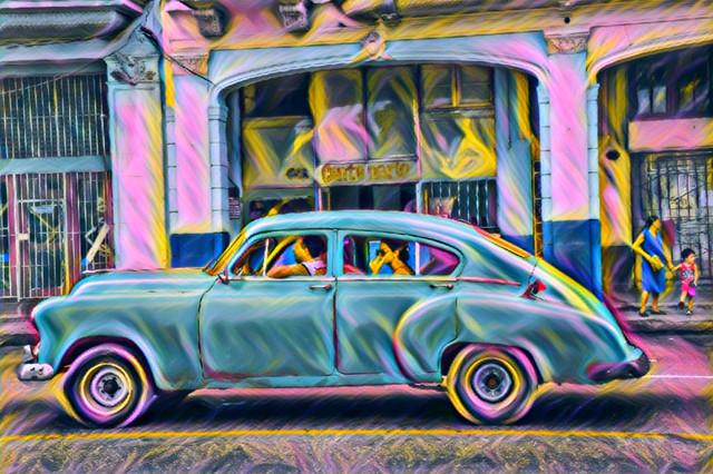 Classic Cuban car, Havana, Cuba