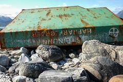 Largest marine litter on the beach