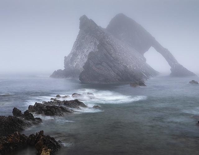 Foggy Bow Fiddle Rock .  Portknockie Scotland