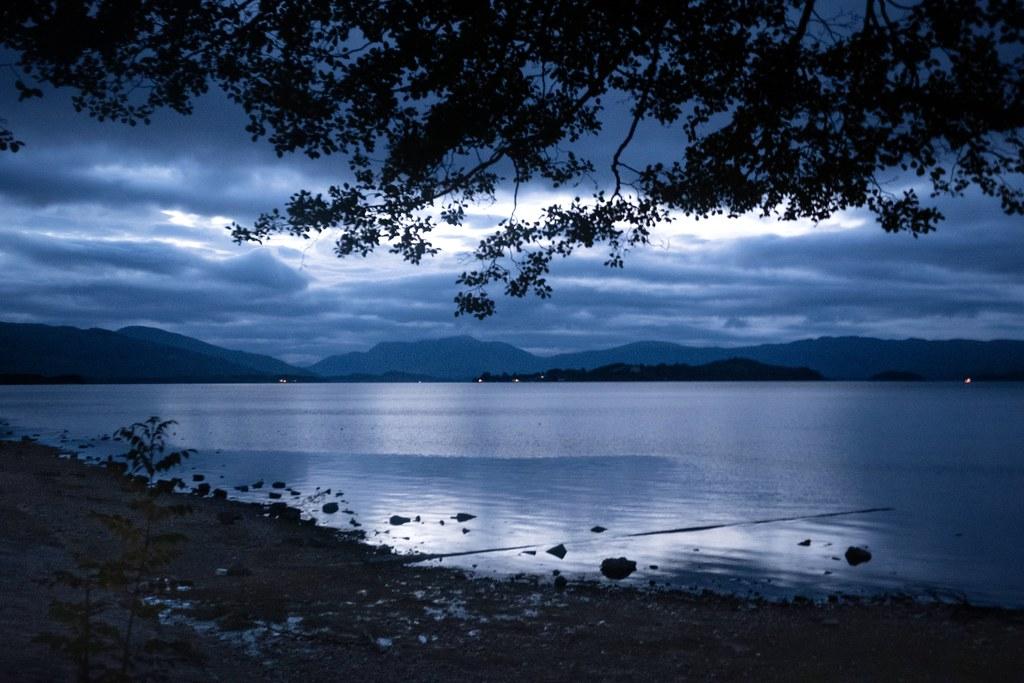 Moonlight over Loch Lomond …