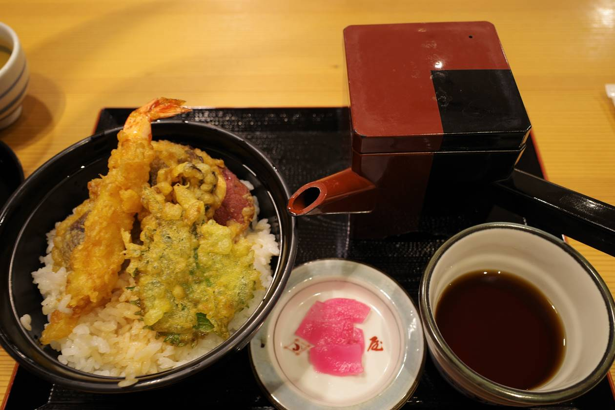 越後湯沢で食べた天丼