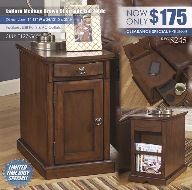 Laflorn Medium Brown Chairside End Table_T127-565